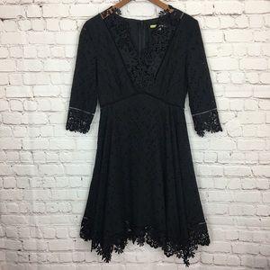 Gianni Bini Lace Floral Eyelet Dress 0